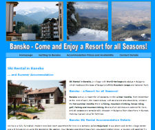Ski Rental Bansko Website Design
