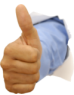 Thumbs up symbol for website consultancy