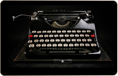 typewriter writing website content